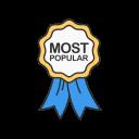 most popular award badge
